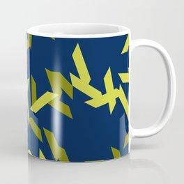 random trapezoids pattern_navy Coffee Mug