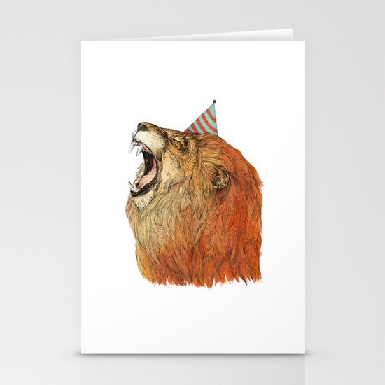 Birthday Lion Stationery Cards