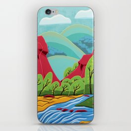 Canyon Flow iPhone Skin