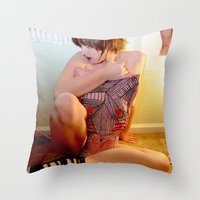 jenny liz rome Throw Pillows featuring Liz by Maison Fioravante - Fine Artist