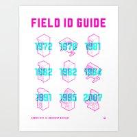 ARCADE FIELD ID GUIDE - SERIAL 001-009 Art Print