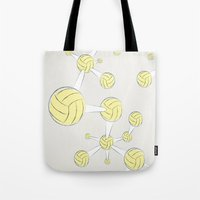 soccer Tote Bags featuring Soccer DNA by HenryWine