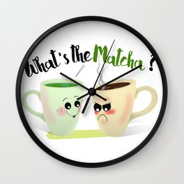 What's the Matcha? Wall Clock