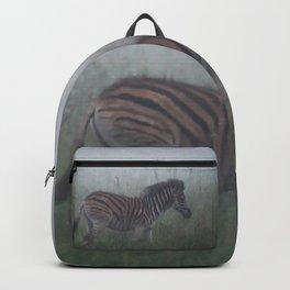 Baby Zebra in the mist Backpack