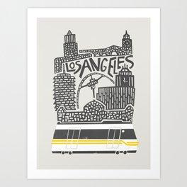 Los Angeles Cityscape Art Print