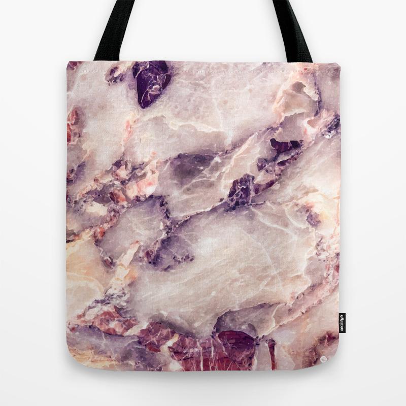 Geode Tote Beach Bag Tote Pink Tote Marble Tote Bag Marble Tote Pink Tote Bag Tote Bag Agate Tote Bag