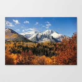 Winter Mountain In Autumn Utah Canvas Print