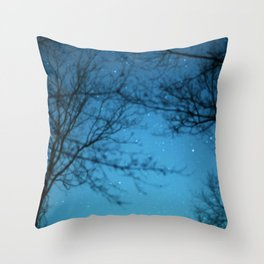 Starry Sky - Night Photography Shot Throw Pillow