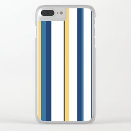 Vintage 1950s stripes Clear iPhone Case