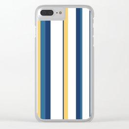 Vintage 1950s stripes Clear iPhone Case