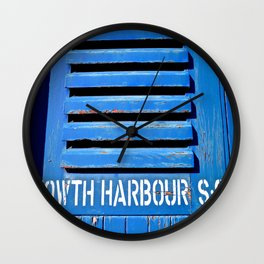 Howth Harbour Shutter Wall Clock