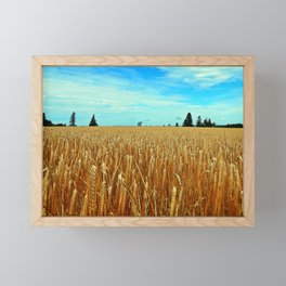 Wheat Field Framed Mini Art Print