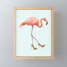 FANCY FLAMINGO Framed Mini Art Print