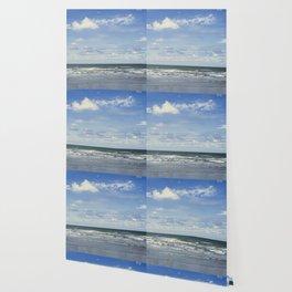 Blue sky, blue sea Wallpaper