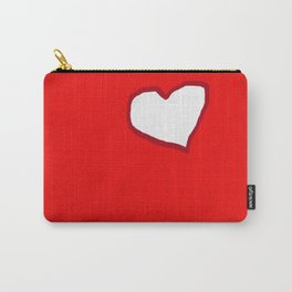Red And White Heart Carry-All Pouch