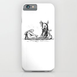 Norse Myth Frigg and Odin Sailing In Fensalir iPhone Case