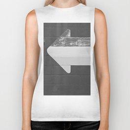 Arrow (Black and White) Biker Tank