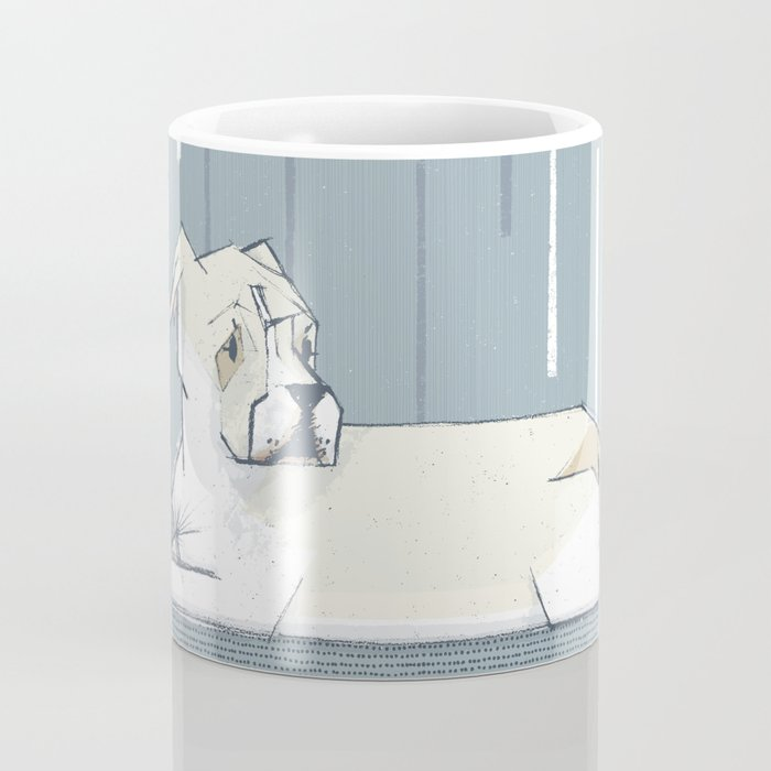 Pete - Stripes M+M Slate - PetBunch by Friztin Coffee Mug