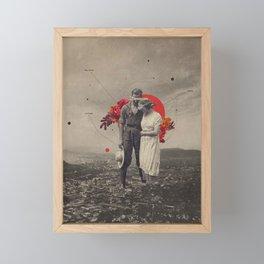 The sun has become pale Framed Mini Art Print