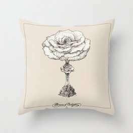 Blossoms of Civilizations Throw Pillow