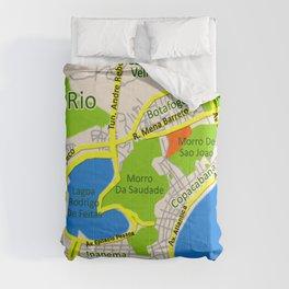 RIO map design - Brasil Comforters