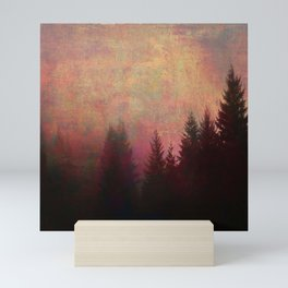 Repose, Abstract Landscape Trees Sky Mini Art Print