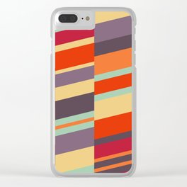 Late Summer Strips Clear iPhone Case