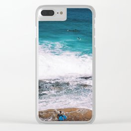 Waiting On the Wave Clear iPhone Case
