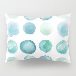 Blue Sea Glass Watercolor JUUL Pillow Sham