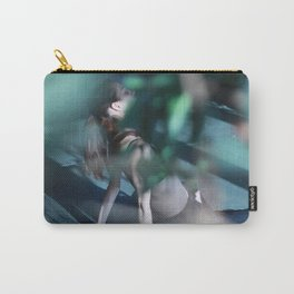 Meditation time, woman is sitting, relaxation Carry-All Pouch