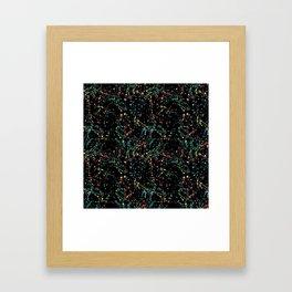 Splat Color Black R Framed Art Print