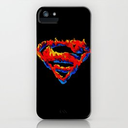 Superman in Flames iPhone Case
