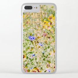Floral Interlace Clear iPhone Case