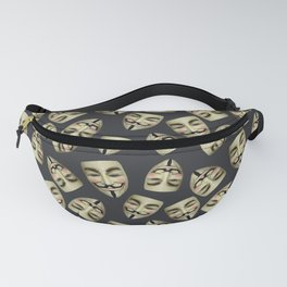 Guy Fawkes Masks on Gunpowder Fanny Pack