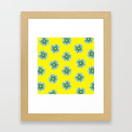 Geo Spring Flowers 02 Framed Art Print