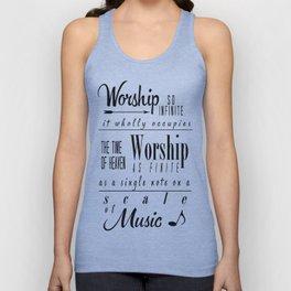 Worship Infinite and Finite Unisex Tank Top