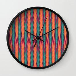 Knitting Flames Wall Clock