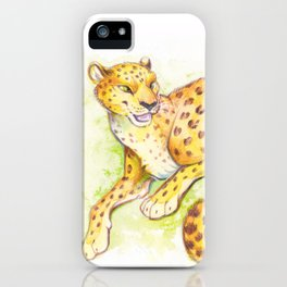 Lounging Leopard iPhone Case