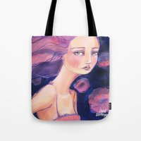 jane davenport Tote Bags featuring Move on by Jane Davenport by Jane Davenport