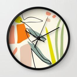 minimal garden Wall Clock