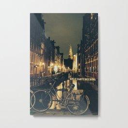Amsterdam Bike Metal Print