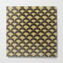 Japanese Wave Gold Glam #2 #decor #art #society6 Metal Print