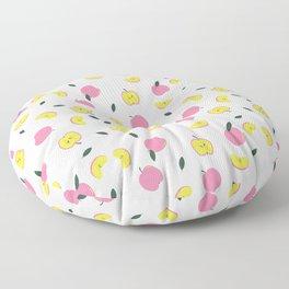 Pink Apples Pattern Floor Pillow