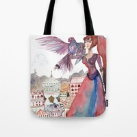guardians Tote Bags featuring Guardians by Ghie