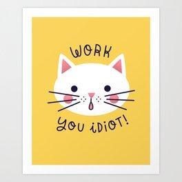 Bossy Cat Art Print