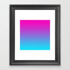 PINK & TEAL FADE Framed Art Print