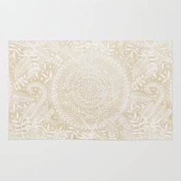 Medallion Pattern in Pale Tan Rug