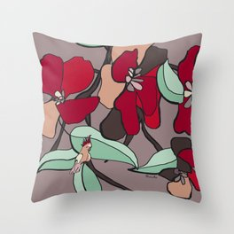 Huge flowers for you Throw Pillow