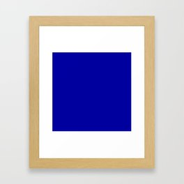 Simple Solid Color Earth Blue All Over Print Framed Art Print