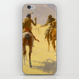 "Frederic Remington Western Art ""The Parley"" iPhone Skin"